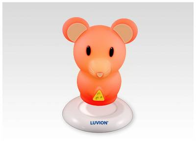 luvion multicolor nightlight mouse voor de babykamer