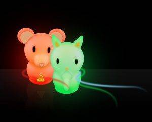 luvion nightlight nachtlampje mouse bunny