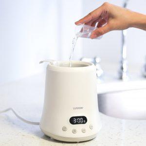 luvion flessenwarmer water toevoegen