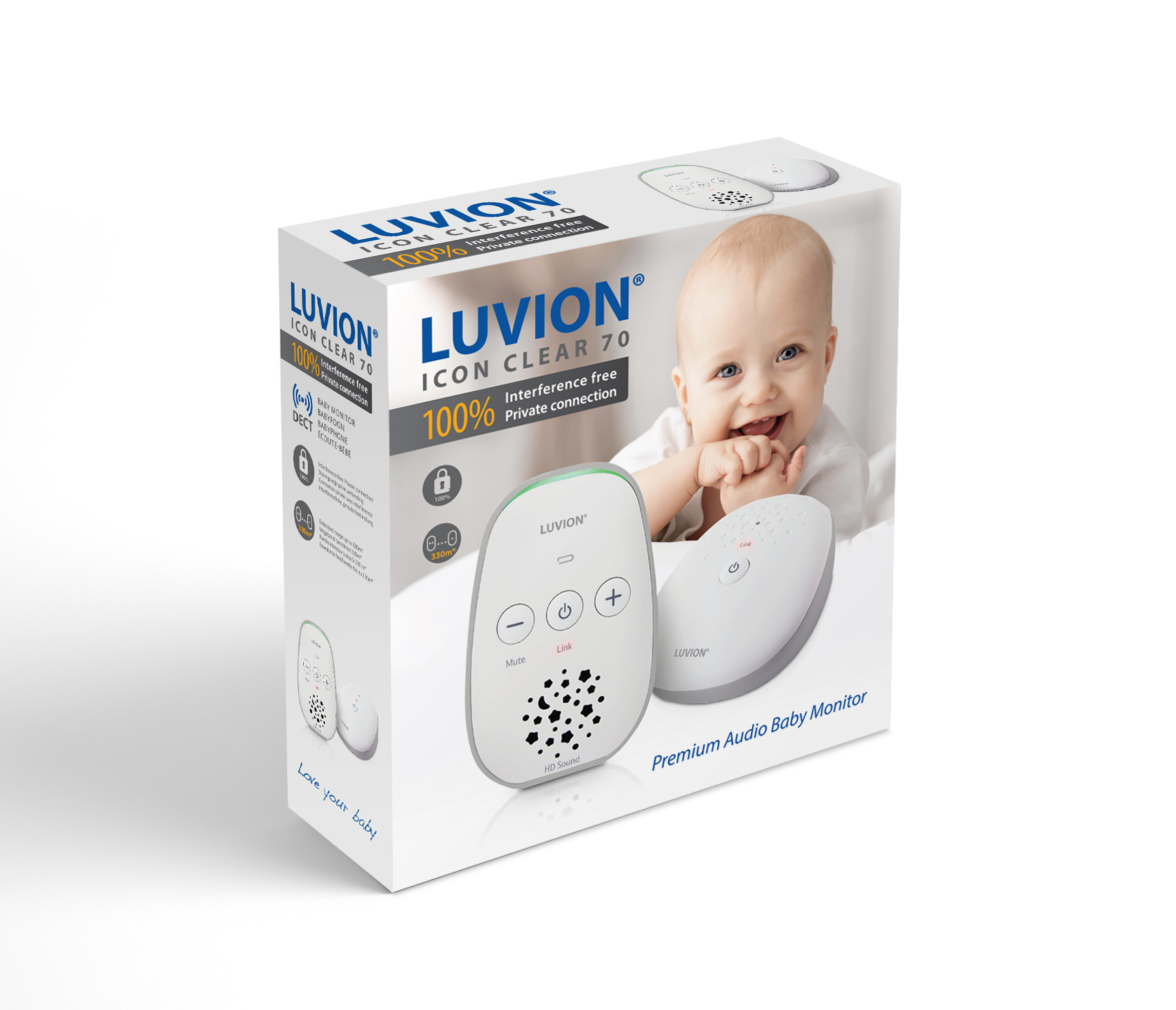Luvion Icon Clear 70 dect babyfoon verpakking